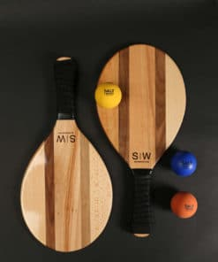 Frescobol rackets made of wood by Salt on Wood