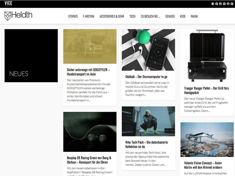 Heldth Webseite
