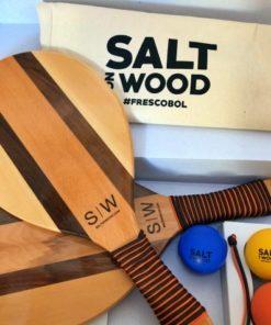 Frescobol Set Handmade mit Nylon-Bändern