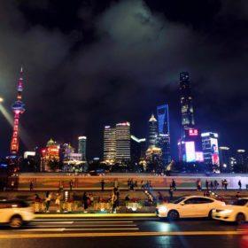 Die Skyline von Bund in Shanghai