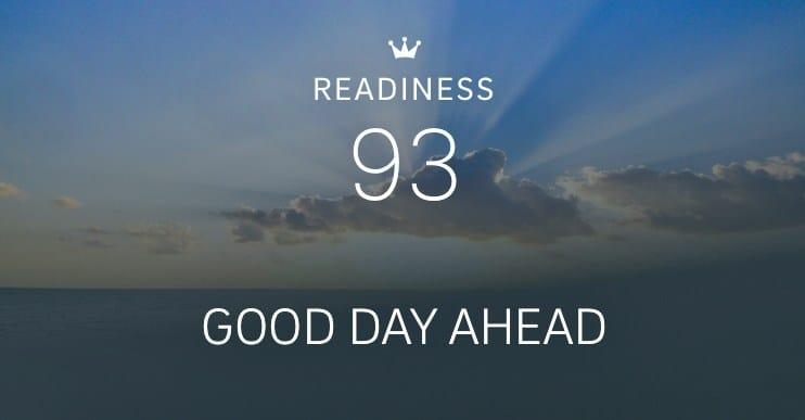 Schlaf-Tracking mit Oura: 93 von 100 Punkten beim Wert Readiness