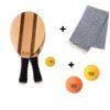 Sparpreis: Frescobol Set + 2 zusätzliche Bälle + Pestemal Strandtuch im Set