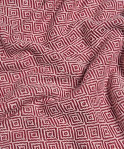Pestemal beach towel made of cotton with a checked pattern